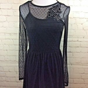 Love Fire Black Womens Dress Size Small